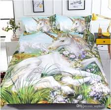 unicorn painting bedding sets duvet covers for twin king size bed style cover sheets pillow shams bed cover set luxury bedspread king size comforter