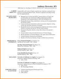 9 Registered Nurse Resume Samples Wsl Loyd Resume