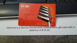 norm s restaurants gift card 10 00 7 49 pic