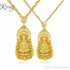 whole golden plated buddha pendant necklaces for men indian buddhism necklaces jewelry chinese style 610mm kx001 letter pendant necklace number pendant