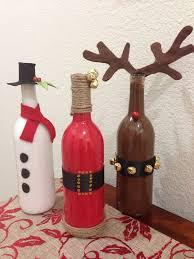 Christmas Decor Wine Bottles  Wine Bottle Crafting  Pinterest Wine Bottle Christmas Crafts