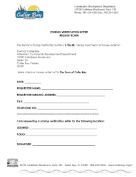 Fillable Online Cutlerbay Fl Zoning Verification Letter Request Form