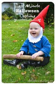 quick and easy garden gnome diy costume idea perfect for es and toddlers