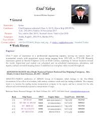 resume eiad yahya marine engineer