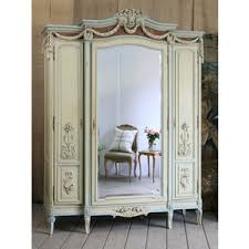 mirror armoire. antique french cane mirrored armoire in sage and aqua - $10,500 the bella cottage mirror s