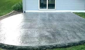 backyard concrete cost backyard stamped