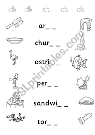 These free phonics worksheets explore the different ways that letters may sound. Phonic Sound Ch Esl Worksheet By Alishen