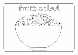 fruit salad clipart black and white. Modren And View Preview Oliveru0027s Fruit Salad Colouring Sheets  Throughout Clipart Black And White M