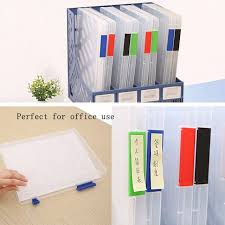 desk office file document paper. A4 Transparent Storage Box Clear Document Paper Filling Case File Plastic New Magnet Desk Organizer Tray Office F