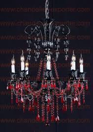 red chandeliers transpa