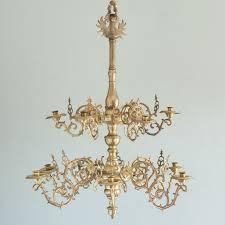 nineteenth century brass twelve light candle chandelier