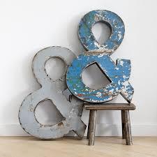vintage metal ampersand sign
