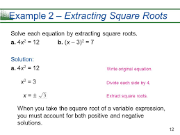 example 2 extracting square roots