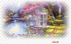 garden of prayer painting thomas kinkade painter of light address book nature tree png