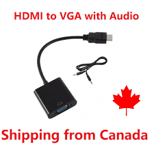 1080 HDMI male vers VGA with Audio Cord Converter projector cable PC  Monitor A03