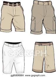 Short Templates Vector Clipart Shorts Templates Vector Illustration Gg85806884