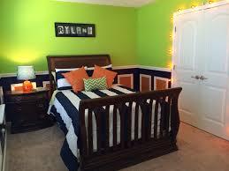 Lime green, navy and orange toddler boys room. I\u0027m LOVING our ...