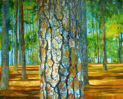 tree painting portrait of a pine tree by joe roache