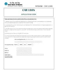 Printable Sample Loan Contract Template Form Car Credit Application