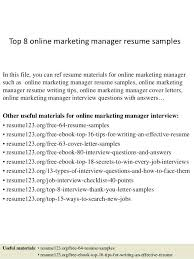 Sample Resume For Online English Teacher Best Of Sample Resumes Online Top 24 Online Marketing Manager Resume Samples