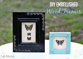 embellished diy wood frame tutorial