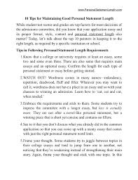 personal statement length tips personalstatementlength com 10 tips for maintaining good personal statement length while student test