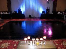 black vinyl floor at ballroom at church st standard floor orlando miami