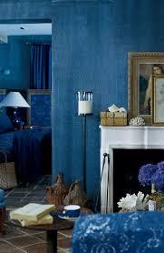 The deep, woven texture of Ralph Lauren Paint's Indigo Denim faux finish  adds a bohemian  Blue Wall ...