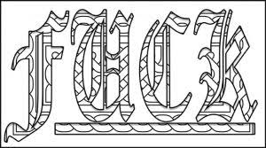 Small Picture Bubble Letters Graffiti Words Coloring Pages Grown Ups