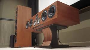 deewan s various speaker builds techtalk speaker building audio center speaker stand mahogany inlay hand rubbed copper paint pictures do not do this finish or color justice added wii sensor bar to bottom of