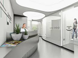 dental office architect. Fluid Dental Polyclinic Interior Reception Curve Design Office Architect S