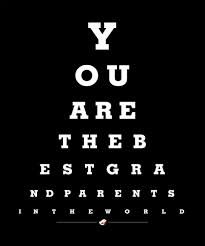 How To Make An Eye Chart Poster Grandparents Eye Chart Best Grandparents In The World Grandmother Grandfather Cwa 1015