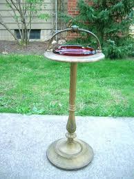 diy outdoor ashtrays ashtray on stand table art patio garden r bird bath shabby gold decorating