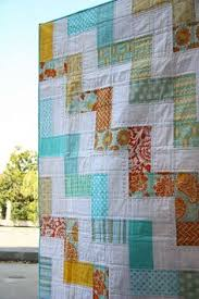 Zig Zag Rail Fence Quilt Pattern. Have I mentioned I LOVE bright ... & quilt You could probably do this with a jelly roll (in color and in white)  - sew two long strips together, cut them to make square blocks, and piece  the ... Adamdwight.com