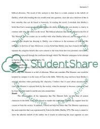 Literary Analysis On Frankenstein By Mary Shelley Essay