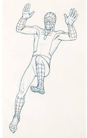 spider man 1967 cartoon drawing leaping