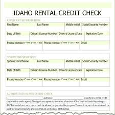 Rental Application Form Tenant Credit Check Pdf Appinstructor Co