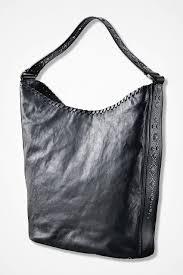 studded leather shoulder bag by frye black large