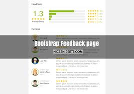 Review Page Design In Html Feedback Page Responsive Design Using Bootstrap