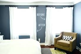 Curtains For Big Windows Wonderful Window And Adding Hemming Breezy ...