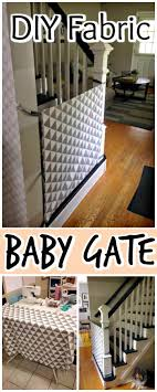 handcrafted fabric baby gate