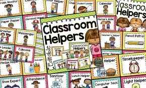 Helpers Chart Classroom Helpers Chart Editable Brights Classroom Set