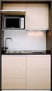 Einfachen kompakte Küche mit Holz Schrank Küche Beleuchtung unter