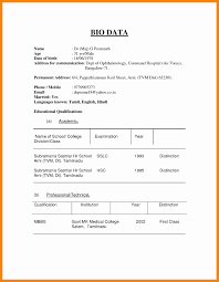 Download Resume Format In Word File Lovely 6 Biodata Format In Word