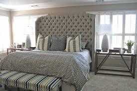 upholstered bed frame cal king  bed furniture decoration