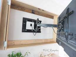 diy wall mounted tv cabinet with free