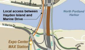 self driving car proposal haydenisland bridge cam access would be proved by a new autocar bike lane added to the west side of the north portland harbor bridge or a dedicated bike autonomous car bridge