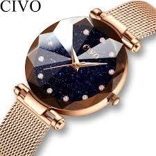 <b>CIVO Fashion Women</b> Crystal Watches <b>Luxury</b> Waterproof Ladies ...