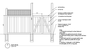 wood fence drawing. Modern Plan Wood Fence Plans Drawing