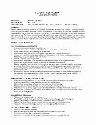 Restaurant Cashier Job Description Resume Best Of Hostess Job ...